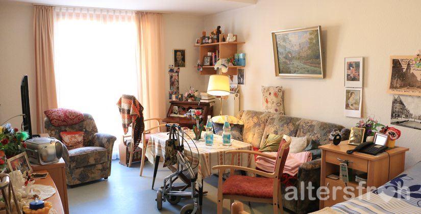 Bewohnerzimmer im Haus 32 der Seniorenstiftung Prenzlauer Berg in Berlin