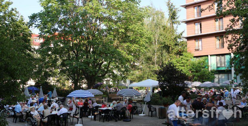 Parkfest 2015 im Haus 32 der Seniorenstiftung Prenzlauer Berg in Berlin