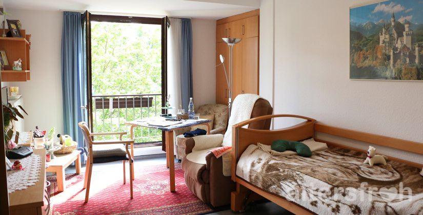 Bewohnerzimmer im Haus 32a der Seniorenstiftung Prenzlauer Berg in Berlin