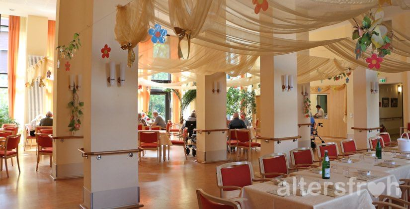 Speisesaal im Haus 32a der Seniorenstiftung Prenzlauer Berg in Berlin