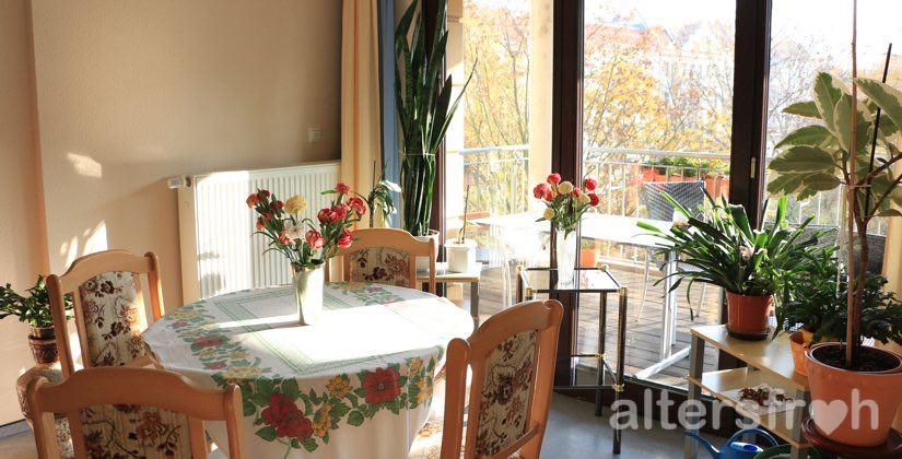 Sitzecke im Haus 32a der Seniorenstiftung Prenzlauer Berg in Berlin