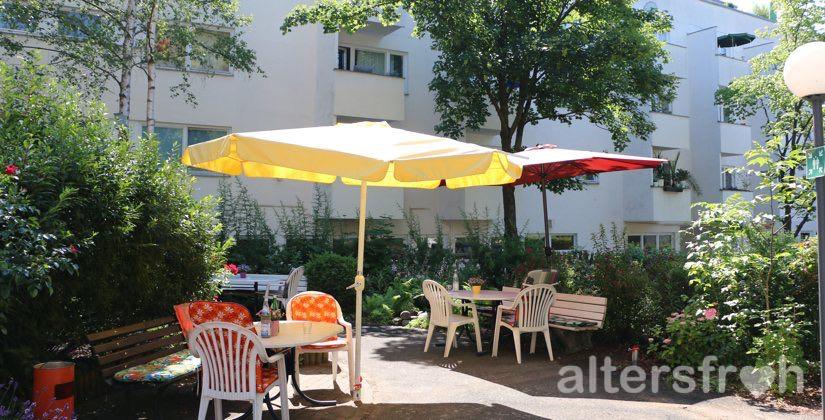 Garten des Brunnenhof Haus Steglitz in Berlin