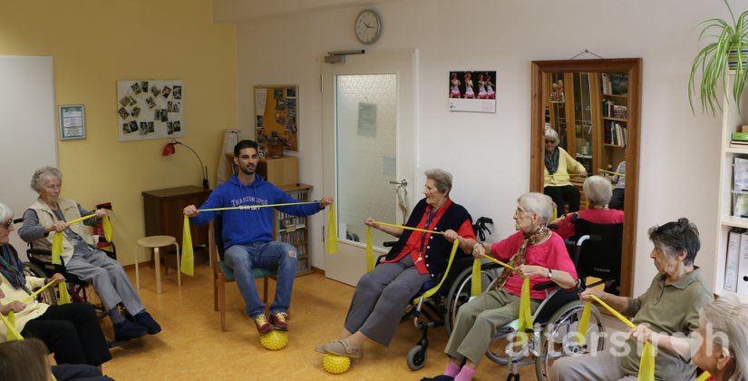 Sportgruppe im DSG Pflegewohnstift Babelsberg in Potsdam