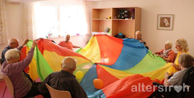 Sportgruppe im DSG Pflegewohnstift Hönow bei Berlin