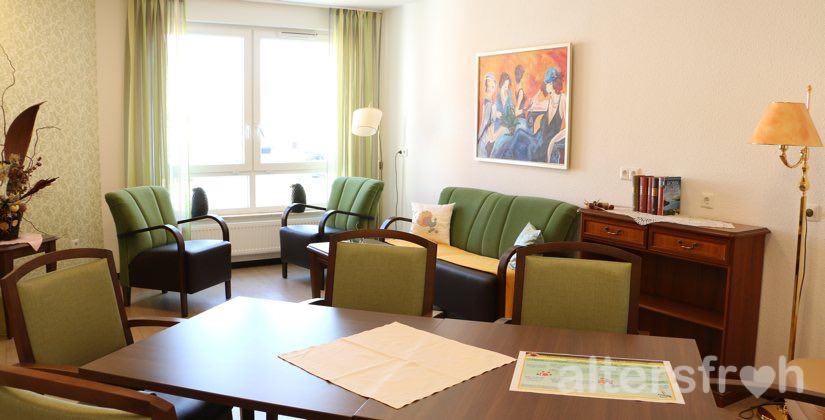 Wohnzimmer im DSG Pflegewohnstift Hönow bei Berlin