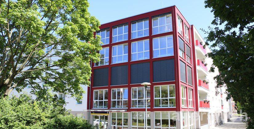 Blick auf das DSG Pflegewohnstift Waldstadt, Potsdam