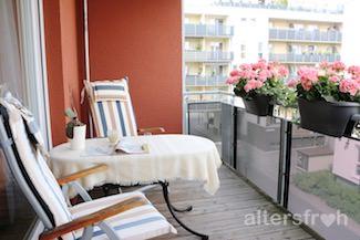 Balkon im Service Wohnen City-Quartier in Potsdam