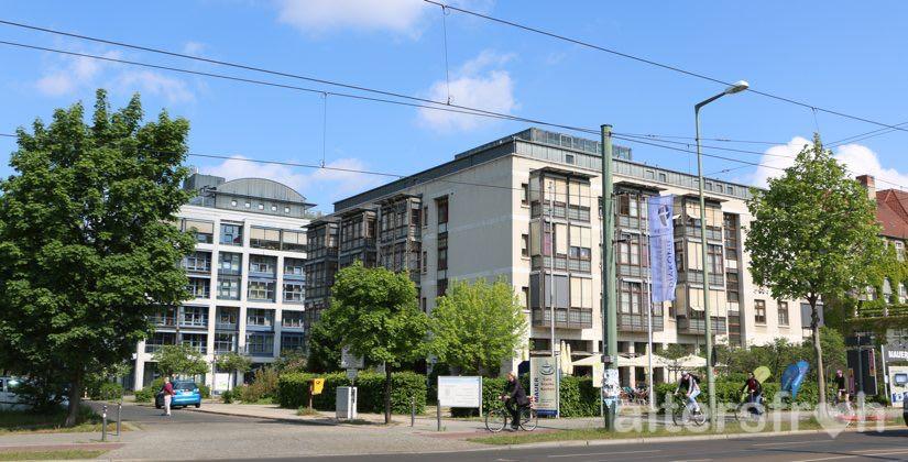 Blick auf das Lazarus Haus Berlin