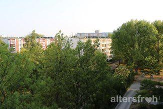 Balkonblick von der Seniorenstiftung Prenzlauer Berg Haus 32 in Berlin
