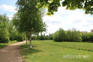 Park in der Nähe des Pflegewohnstifts Hönow bei Berlin