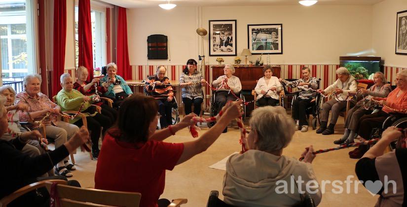 Sportgruppe im Vitanas Senioren Centrum Rosengarten in Berlin Lankwitz