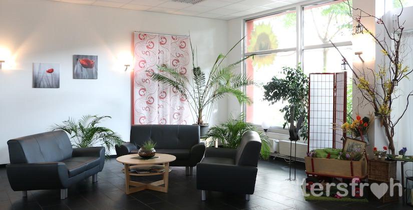 Empfangsbereich in der Begegnungsstätte Sonnenblume des Service Wohnens Waldstadt in Potsdam