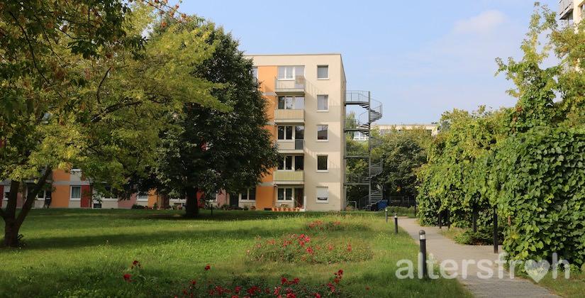 Blick auf das Service Wohnen Waldstadt in Potsdam