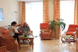 Ruheraum in der Tagespflege im Seniorenzentrum Haus am Park
